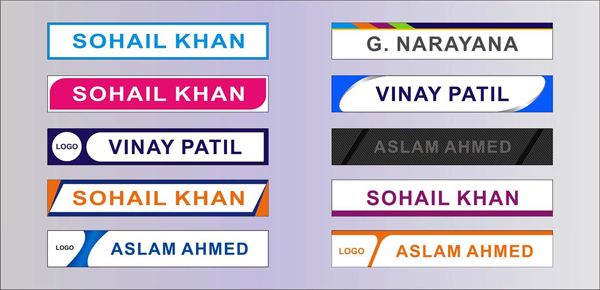 Name Plate Signages
