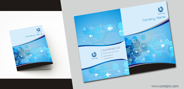 Book Cover Design Cdr : Brochure cover design template