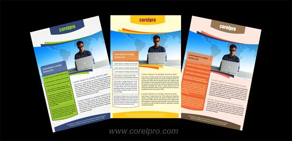 Flyers Templates in 3 Colors