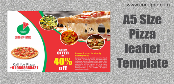 Pizza A5 Size Leaflet Template