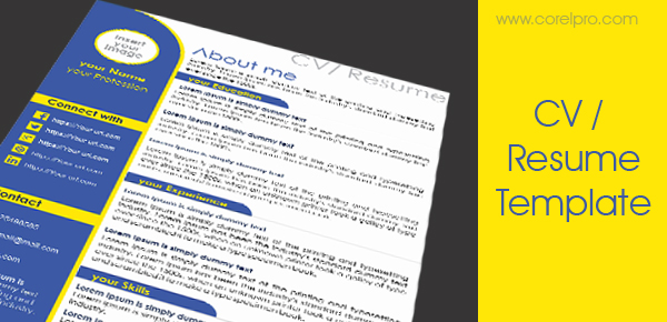 Resume Template Corelpro