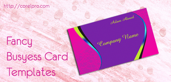 Fancy Business Card Templates corelpro