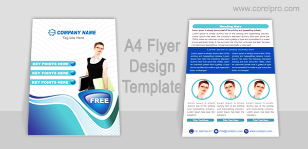A4 Flyer Design Template
