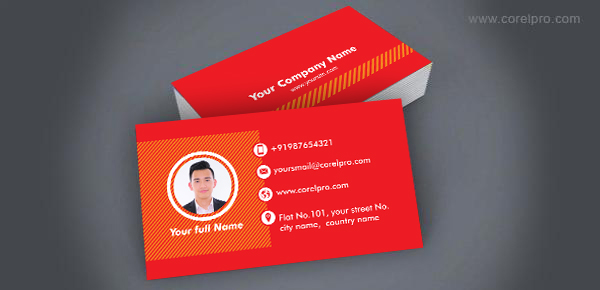 Business Card Template(Red)