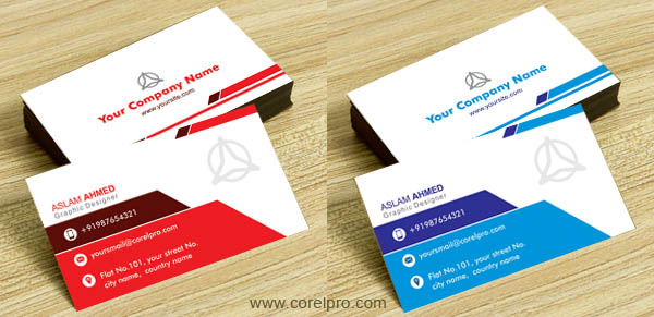 Business Card Template Vol CDR Format Corelpro - Business card designs templates