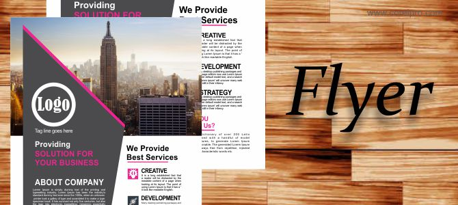 Corporate Flyer Template source file